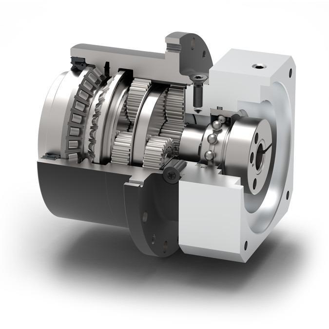Reductor planetario para AGV NGV - Reductor para carretillas elevadoras industriales. Compacto y muy resistente.