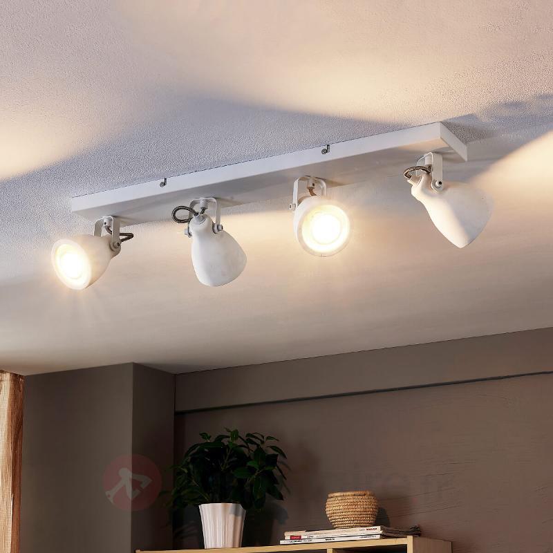 Plafonnier LED blanc Kadiga à 4 lampes - Spots et projecteurs LED