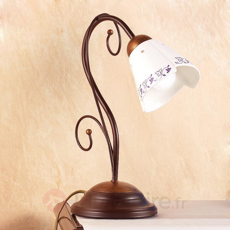 Lampe à poser CARTOCCIO - Lampes à poser rustiques