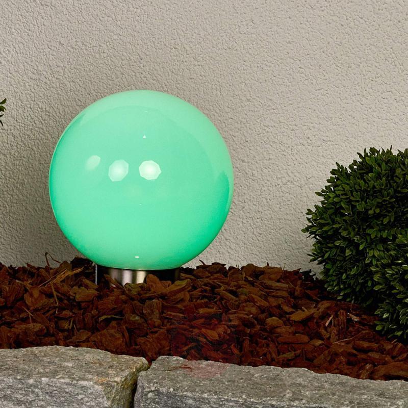 Colourful RGB LED solar ball Friederika - outdoor-led-lights