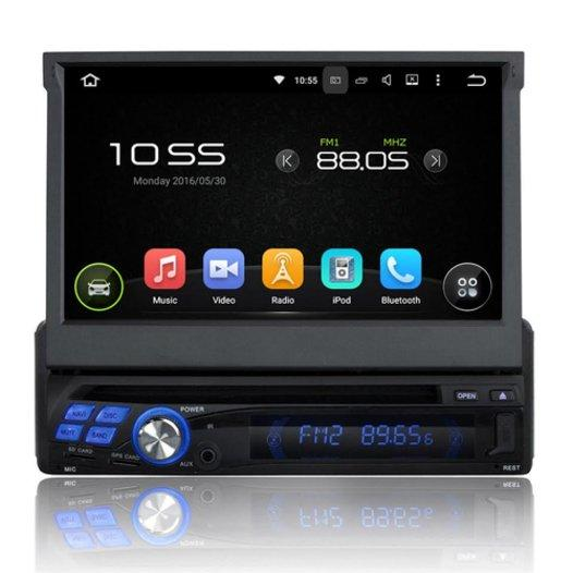"Android Autoradio Navigation 3D - 1 Din 7""Touchscreen - GPS DVD USB Bluetooth WIFI"