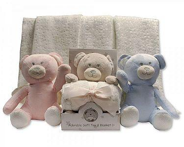 Baby Bear Toy with Blanket in Box  -