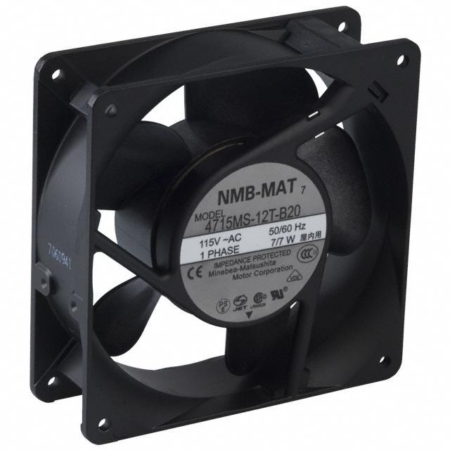FAN AXIAL 119X38MM 115VAC TERM - NMB Technologies Corporation 4715MS-12T-B20-A00