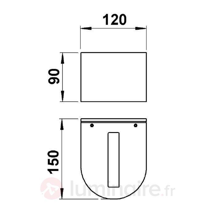 Applique d'extérieur LacBulge - Appliques d'extérieur LED