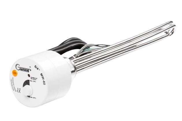Grzałka do bojlera z termostatem trójfazowa - Grzałka trójfazowa 3kW 4,5kW 6kW 7,5kW 9kW 12kW