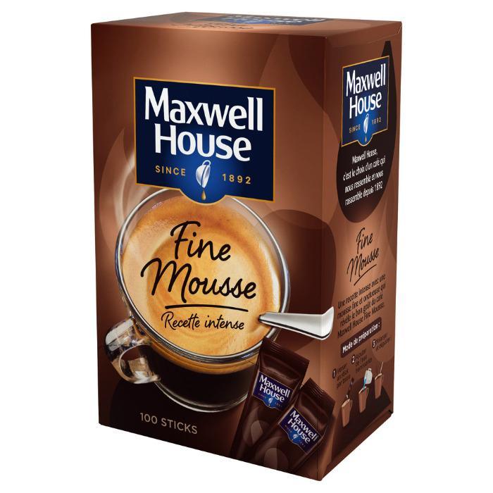 Café fine mousse x100 sticks 180g - MAXWELL HOUSE - (Colis de 8)