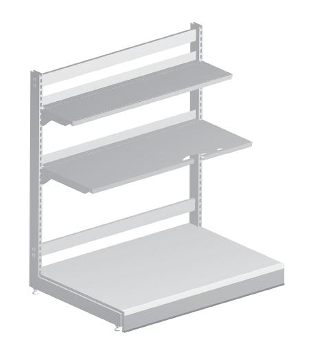 Modular shop rack systems & instore interior shelving design - Discount unit