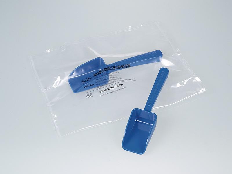 Pala detectable, azul - Tomamuestras desechables y estériles