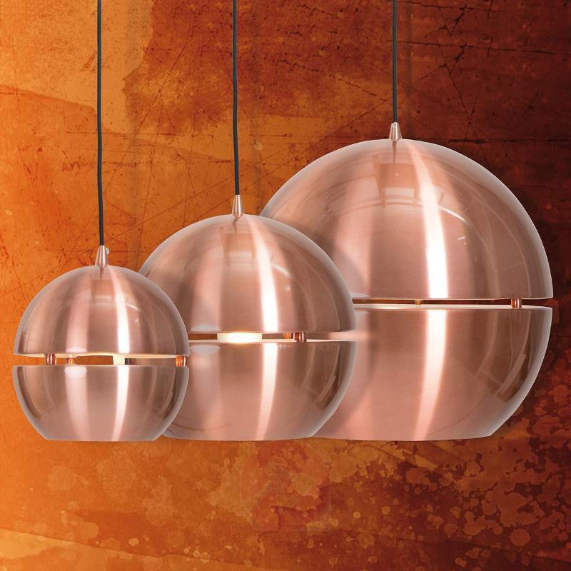 Bollique hanging light in copper, 20 cm diameter - Pendant Lighting