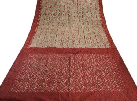 Patola Printed Fabric Pure Silk Sari