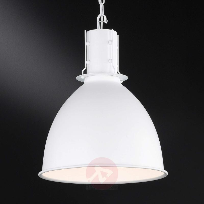White metal hanging light London - indoor-lighting