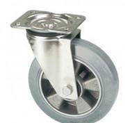 Roulettes caoutchouc élastique vulcanisé gris -