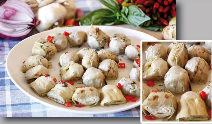 Antipasti - Sottoli - Melanzane grigliate, Involtini di speck, carciofi alla contadina, pomodori secch