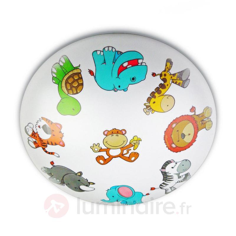 Plafonnier haut en couleur Animaux Sauvages - Chambre d'enfant