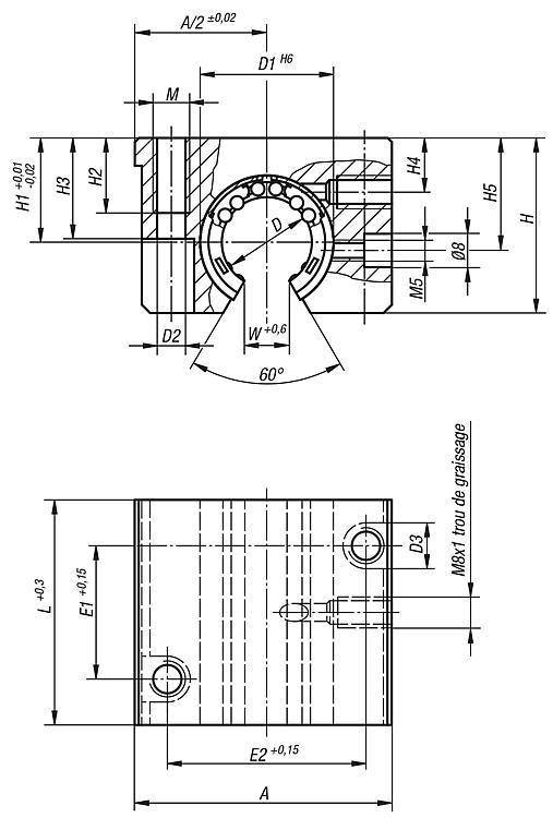 Unité linéaire ouverte - Système de guidage linéaire