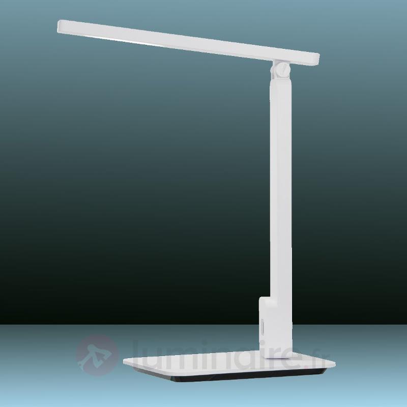Lampe à poser LED Geer blanche variateur tactile - Lampes de bureau LED