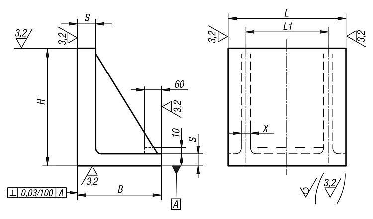 Angle plates aluminium - Tombstones and angle plates