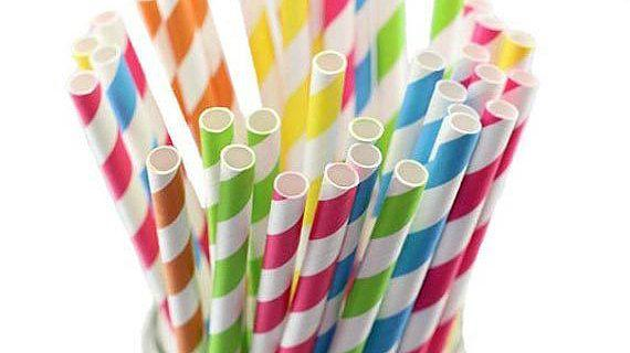Paper straws - 10,000 Striped Paper Drinking Straws