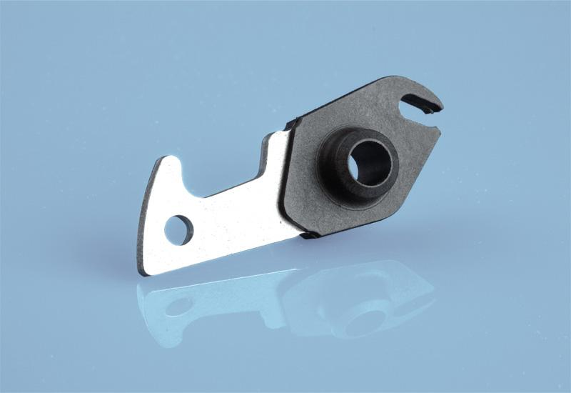 Pawl (plastic coated stamped part) - Plastic coating