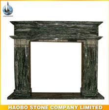 Haobo Stone Polished Western Style Granite Fireplace