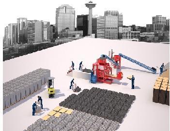 Станок по производству качественных стеновых блоков - Полуавтоматическая Машина Prs 1000 Мини Завод  Для Производства Стенового Камня