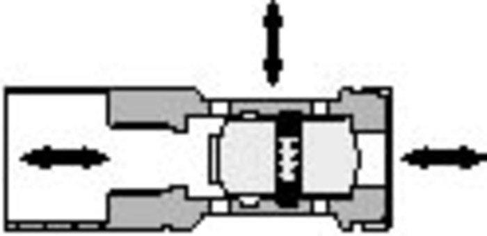 500 Detented Shuttle Valve - null