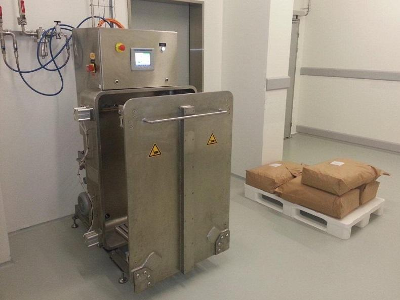 Glove box I Bag sterilising gassing chamber - for secure handling I for sterile packaging of products into bags