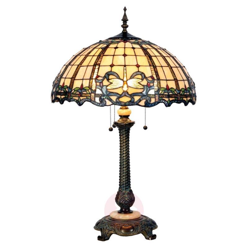 Wonderful floor lamp Atlantis in Tiffany design - indoor-lighting