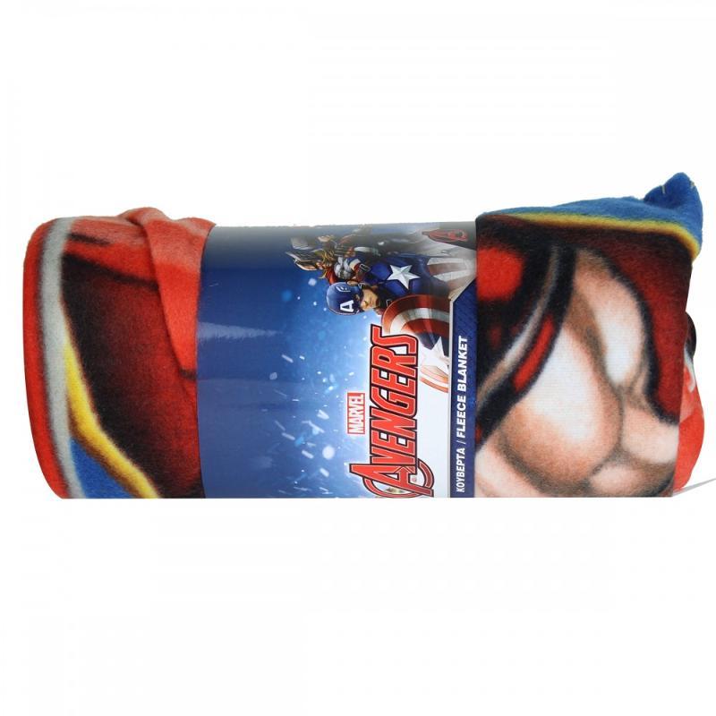 6x Plaids polaires Avengers 140x100 - Linge de maison
