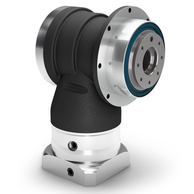 Reductor planetario angular WPSFN - Reductor de precisión con brida de salida - Sección angular de dentado hipoide