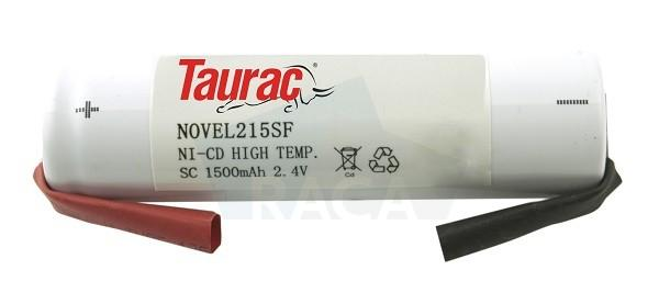 Emergency lighting battery pack  - NOVEL215SF - 2,4V / 1,5 Ah,