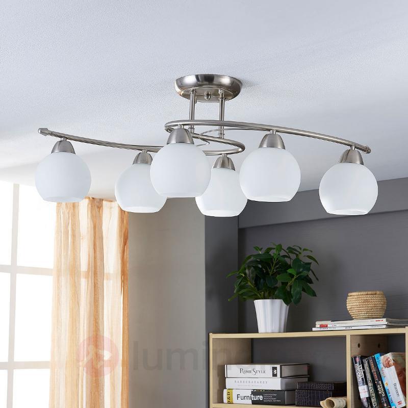 Plafonnier de salle à manger Svean à 6 lampes - Plafonniers chromés/nickel/inox