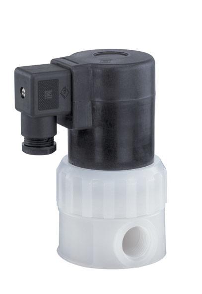Elektrisch betätigtes Magnetventil GEMÜ 202 - Direktgesteuertes 2/2-Wege-Magnetventil mit kunststoffummantelten Antriebsmagnet