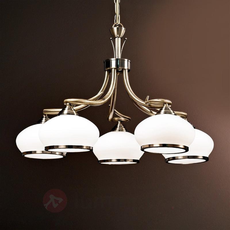 Suspension exceptionnelle à 5 lampes Elvira - Suspensions classiques, antiques