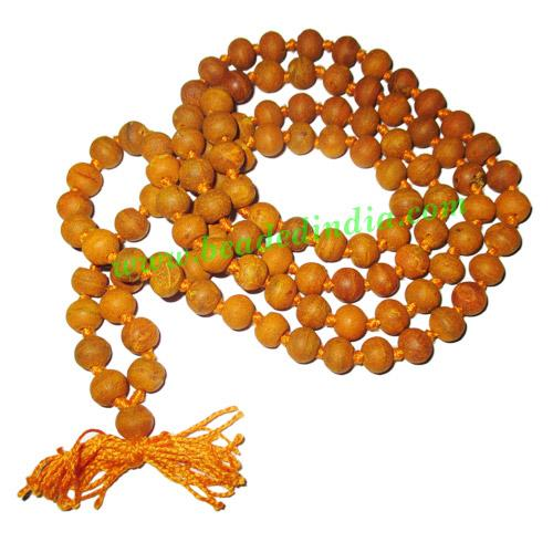 Turmeric (Haldi) Beads-Seeds String (108+1 beads mala), size - Turmeric (Haldi) Beads-Seeds String (108+1 beads mala), size: 7-8mm