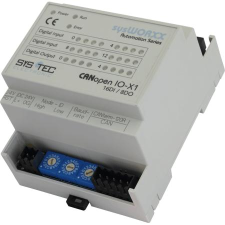 CANopen IO-X1 16DI / 8DO - Automation Components