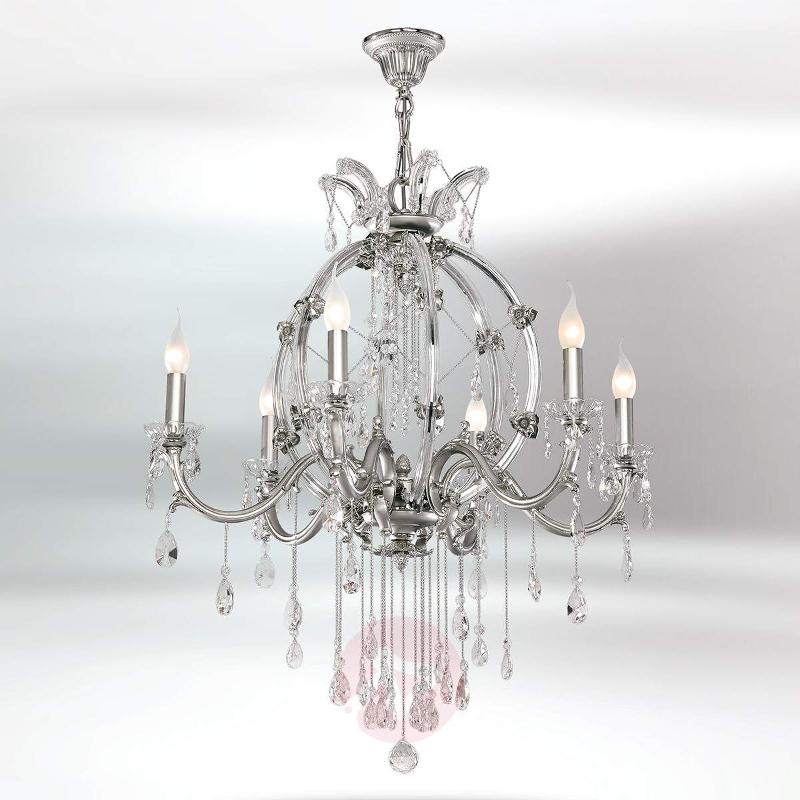 Sumpuous 6-bulb crystal chandelier Trina - Chandeliers