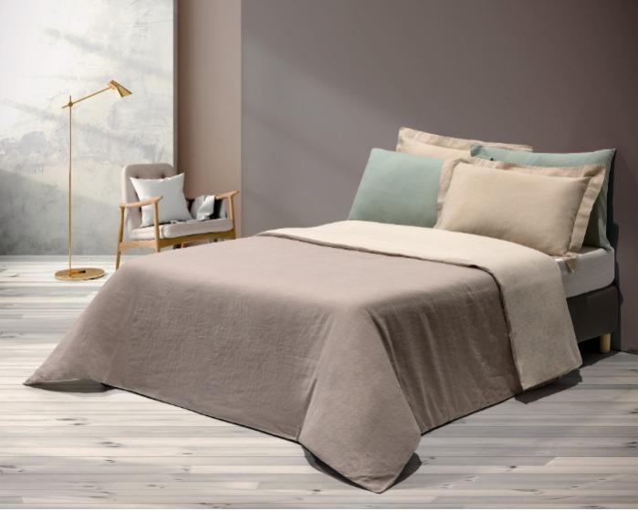 Lençol, Capa de  edredão e almofadas - Roupa de cama em cânhamo
