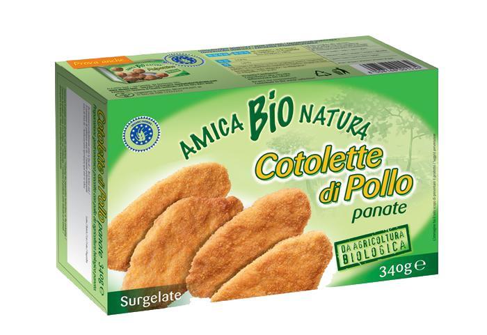 Escalopes de poulet panées - Biologiques et surgelées