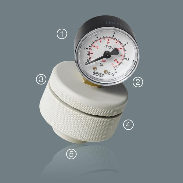 further connection types - Diaphragm Pressure Gauge Series 3D