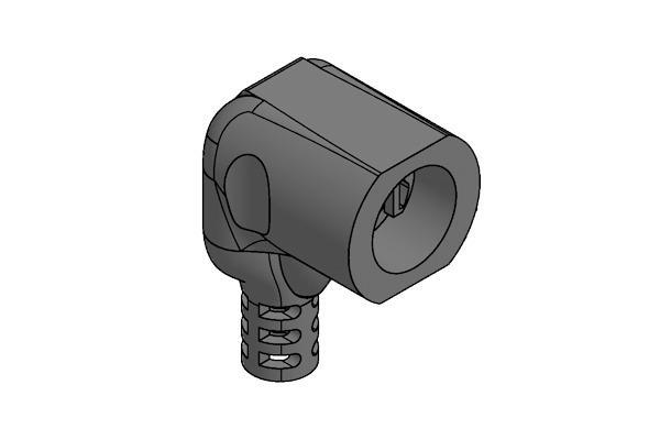 Connettore con faston paralleli per termostati a contatto -