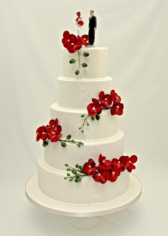 Gâteaux et Pièces Montées sur-mesure - Gâteau de mariage orchidées
