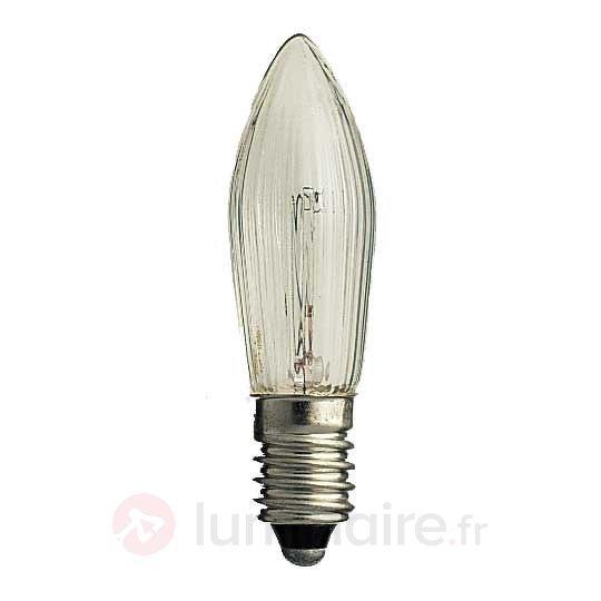Pack de 3 lampes E10 3W 34V bougies - Ampoules à l'unité