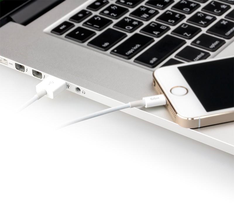 Câble Chargeur Iphone Lightning / USB  - 1 m - Blanc