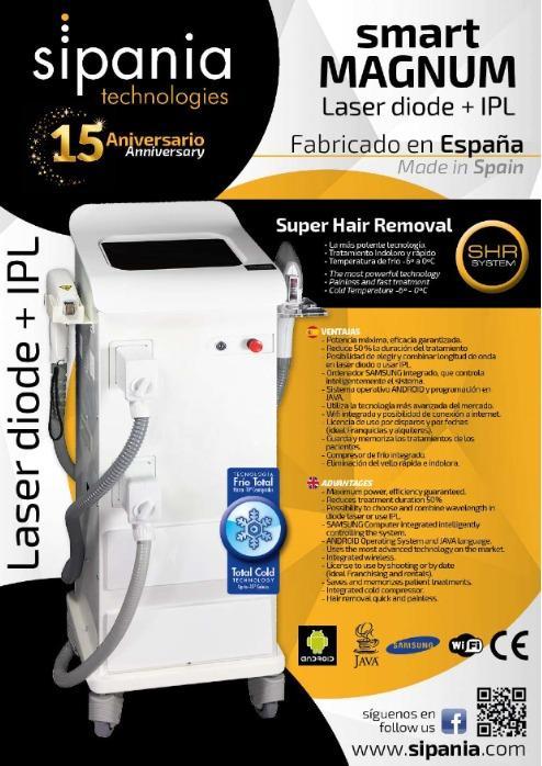 smart cube MAGNUM (DIODO + IPL) - Super Hair Removal  La más potente tecnología. Tratamiento indoloro y rápido. Ta
