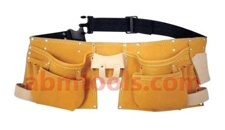 11 Pocket Professional Style Split Leather Carpenter Apron -