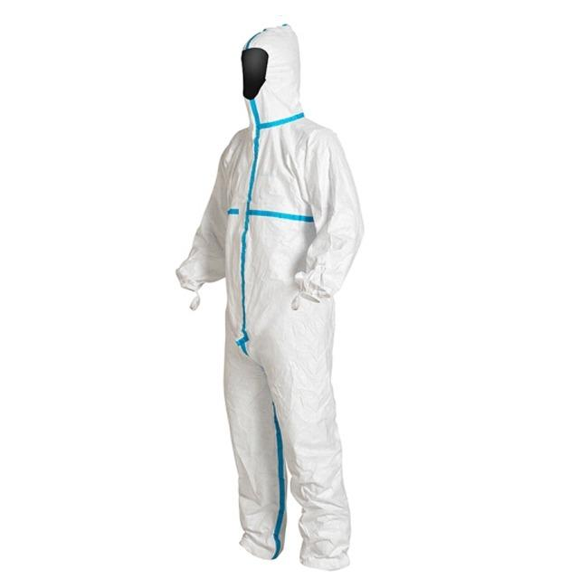 surgical coverall with blue taped  type 5/6  - Type 5 6 Overalls , Disposable Microporous Coveralls EN 14126