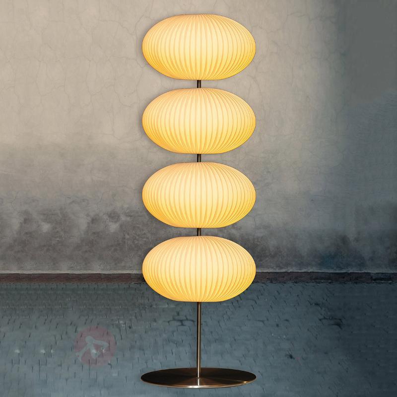 Lampadaire Palo avec 4 abat-jours plissés - Lampadaires en tissu