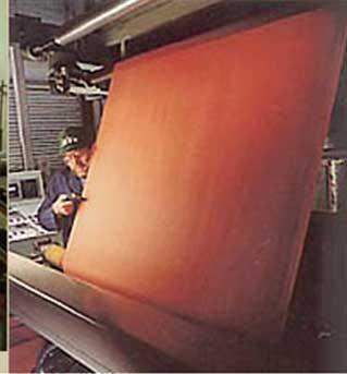 tissus enduits d'élastomère