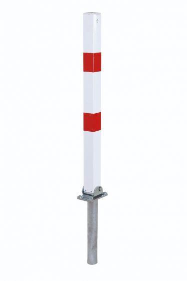Poteau De Parking Rabattable 70x70, Fermeture Triangulaire - Aménagement Des Parking